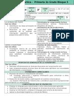 Plan 2do Grado - Bloque 5 Español (2016-2017)