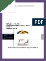 Trabajo Académico de Planeamiento Estratégico