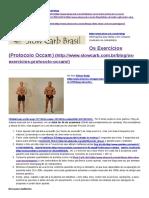 Os Exercícios (Protocolo Occam) » Slow Carb Brasil