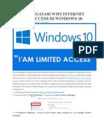 Cara Mengatasi Wifi Internet Limited Access Di Windows 10