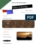 Order of Worship 08 01 2010 v1