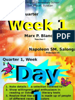 Quarter 1 Week 1 English