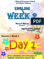 Quarter 1 Week 2 English