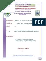 Preparación del Estado de Flujo de Efectivo conforme las              NIIFS y el Plan Contable y la administración de efectivo.doc