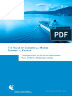 The Value of Commercial Marine Shipping to Canada