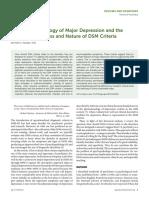 2016 the Phenomenology of Major Depression and the Representativeness and Nature of Dsm Criteria
