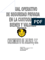 Manual de Seguridad Privada en La Custodia de Bienes y Valores
