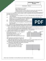 Worksheet 2 Waves