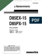 Manual Operacion Mantenimiento Seguridad Funcionamiento Detalles Bulldozers d85ex15 d85px15 Komatsu