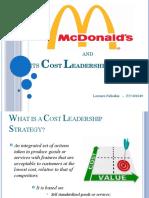McDonald's cost leadership strategy