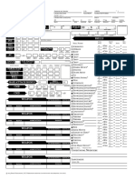 Character Sheet Pathfinder