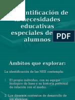 La Identificación de La Necesidades Educativas Especiales De