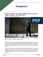Rafael Uzcategui El Supuesto Gobierno de Los Pobres Se Quedo Sin Pobres Por Hugo Prieto