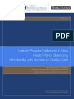 Narrow Provider Networks in New Health Plans- Balancing Affordability With Access to Quality Care