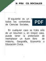 Resumen PSU - Historia 2015