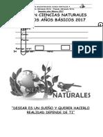 EVALUACIÓN  2017 2° BÁSICO CIENCIAS NATURALES MES DE MARZO