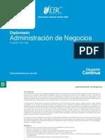 Diplomado Administracion de Negocios