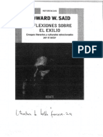 Edward Said - Reflexione Sobre El Exilio