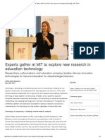 experts gather at mit to explore new research in education technology   mit news