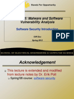 Software Security Intro