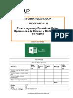 Lab 02 - Excel 2013 - Ingreso y Formato de Datos Operaciones de Edición y Configuración de Página.docx