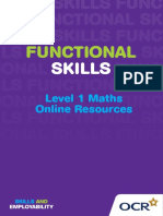 77321 Level 1 Functional Skills Mathematics Underpinning Skills Support Material for Learners