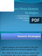 PPT Porters Three Generic Strategies