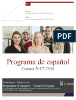 UOttawa Spanish Courses 2017 2018