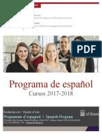 UOttawa Spanish Courses 2017 2018