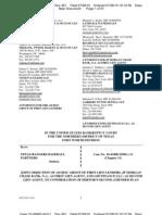First Lien Lenders Objection