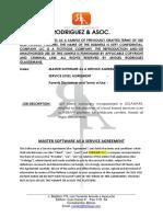 PORTFOLIO SAMPLE - Master SaaS Agreement - Childcare Webapp - USA