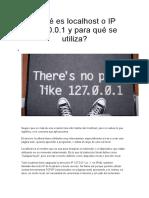 Qué Es Localhost o IP 127.0.0.1