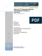 Status of 2nd Generation Biofuels Demonstration Facilities in June 2010 - IEATask39-0610