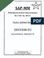 Sap MM Details Overview