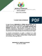 Carta Escuela Vocacional de Las FFAA y La PN - Escuela Laboral