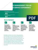 knowledge management an integrated service experience