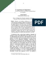 Lexperience Dobjectiver Sur Lorigine Sub