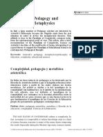 Mari -Complejidad, Pedagogía y Metafísica Aristotélica