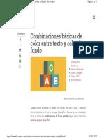 Combinaciones Básicas de Color Entre Texto y Color de Fondo