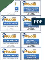 Etiqueta Praxis 1ro Primaria