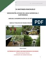 Medición Del Estado Del Agua Superficial y Subterranea de La Cuenca Matanza Riachuelo