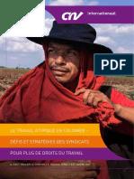 Le travail atypique en Colombie –  Défis et stratégies des syndicats pour plus de droits du travail. Ard Schoemaker