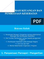 Administrasi Keuangan Dan Pembiayaan Kesehatan 1