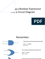 Converting Boolean Expression Into a Circuit Diagram