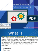 Introduction to CSS Fonts, Texts and Colors - Lesson 7