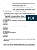Edital de Resultado Preliminar Tresp116 - Presidente Em Exercicio