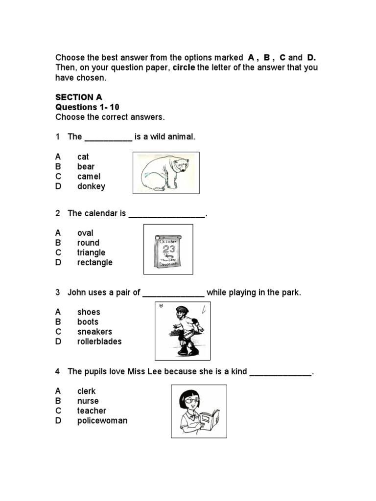 Contoh Soalan Bahasa Inggeris Kertas 1 Tingkatan 5 Tersoal N