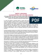 SANITA' e ASSISTENZA Le proposte di CGIL, CISL e UIL della Lombardia