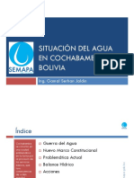 Situacion Del Agua en Cochabamba