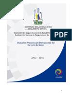 Manual de Procesos de Derivaciones Del Servicio de Salud